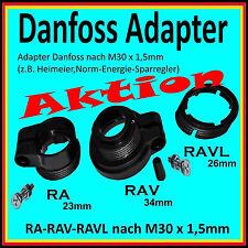 Adapter Danfoss ab 5,49€ für Heizkörperthermostate RAVL-26mm RAV-34mm RA-23mm