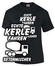 T-Shirt LKW Fahrer ECHTE KERLE FAHREN BETONMISCHER Lastkraftwagen Spruch lustig