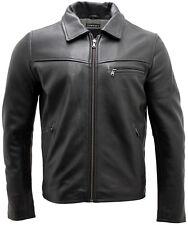 homme élégant cuir noir veste harrington