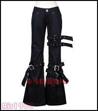 PUNK Womens Mens bell-bottoms Pants Hip Hop Casual Gothic Rock Nightclub Trouser