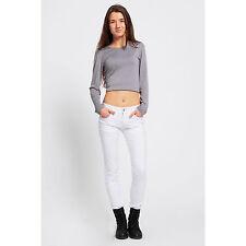 Vendita MODA donna Medio Vita Jeans Stretch Bianco Pantaloni Skinny Pantaloni Slim Fit