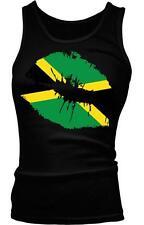 Jamaica Flag Lips Love Kiss Jamaican Pride Rasta Kingston Boy Beater Tank Top