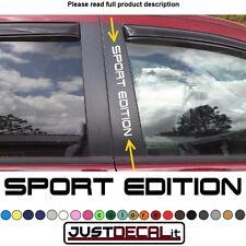 Window Pillar Decal SPORT EDITION text sticker emblem logo graphic