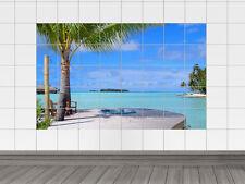 Fliesenaufkleber Fliesenbild Urlaubsfeeling zu Hause für Badezimmer