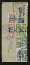 ZEPPELIN 1928 1st FLIGHT AIRMAIL.. ADVERTISING SPEARS GAMES.. ..9 stamp franking