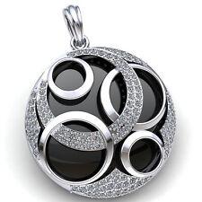 Natural 3ctw Round Cut Diamond Ladies Cluster Dangle Trellis Pendant 18K Gold