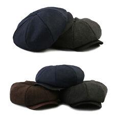 Unisex Mens Herringbone Baker Boy Newsboy Cabbie Flat Cap Gatsby Fitted Hats