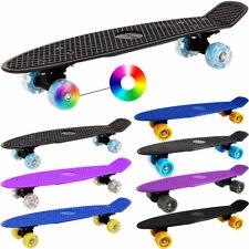 "DEUBA® 22"" Retro Board Skateboard Cruiser Komplettboard Minicruiser Street Mini"