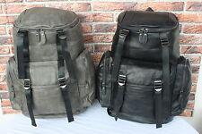 XL  LEDER Rucksack Umhängetasche Schwarz Unitasche Leather Backpack #144