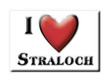 SOUVENIR UK - SCOTLAND FRIDGE MAGNET I LOVE STRALOCH (PERTH AND KINROSS)