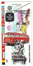 The Romantic Road German Federal Railroad Vintage Brochure Illustrated Germany