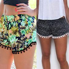 Floral Jungle Aztec Boho Tassel Casual Beach Summer Hot Pants Shorts Bottom