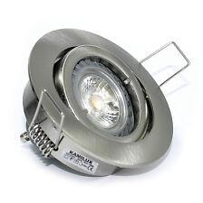 230V Bad Einbauleuchte Bajo & GU10 7W LED Leuchtmittel 7 Watt Einbautiefe 60mm