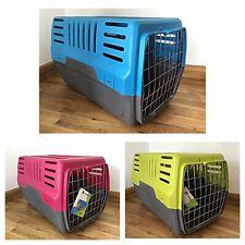 Pet Carrier Cage Large For Cat Kitten Travel Vet Transport Box In colour options