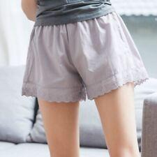 Women Cotton Lace Knickers Bloomers Briefs Panties Underwear White Black Grey