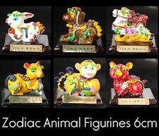 Zodiac Animal figurines Rabbit Monkey Horse Clay statue sculpture Hand painted