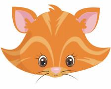 Tiergesicht Rote Katze Aufkleber Sticker Autoaufkleber Scheibenaufkleber
