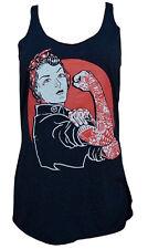 We Can Do It - Rosie Riveter Women's Black Racer Back Tank Top Black Market Art