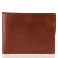 BULLAZO FINO DISCRETA Herren Echtleder Geldbörse mit RFID NFC Schutz aus Leder