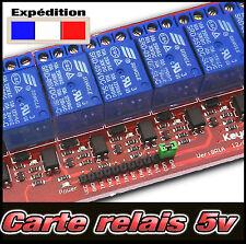 Carte relais 5v pour Arduino PIC ARM AVR DSP -- de 1, 2, 4, 8 relais au choix