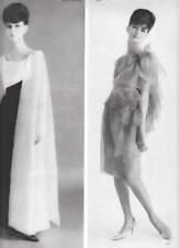 Publicité ancienne mode Lanvin Castillo 1962 issue de magazine