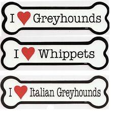 "2""x7"" Bone Magnet - I (Heart) choose Greyhounds, Whippets, or Italian Greyhounds"