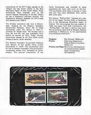 1979 Australian Steam Locomotives  - Post Office Pack
