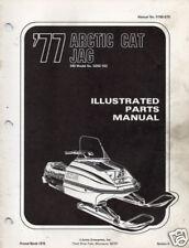1977 ARCTIC CAT SNOWMOBILE JAG  PARTS MANUAL