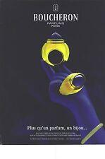 PUBLICITE  ADVERTISING  1991  BOUCHERON un bijou de parfum cosmétiques senteurs