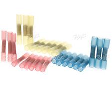 50/100 Schrumpfverbinder Quetschverbinder Stoßverbinder Rot/Blau/Gelb Farbe CP