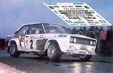 Calcas Fiat 131 Rallye Montecarlo 1977 2 1:32 1:43 1:24 1:18 decals Andruet