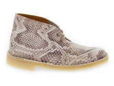 Bota baja CLARKS DESERT BOOT LCR de cuero crema - Zapatos Mujer