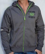 ECKO Unltd. MMA - ALL STAR HOODIE - Men's Zip Up Hooded Sweatshirt - NEW - Gray