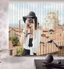 Hobby Photography Girl 3D Curtain Blockout Photo Printing Curtains Drape Fabric
