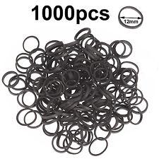 Mini small black elastic rubber bands hair braid poly ponytail plaits dread locs
