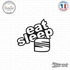 Sticker JDM Eat Sleep Seat Decal Aufkleber Pegatinas D-170 - Couleurs au choix