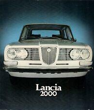 Lancia 2000 Berlina 1971-72 UK Market Multilingual Sales Brochure Flavia