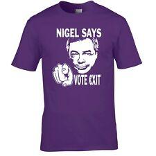 Voto europeo referéndum Camiseta Nigel Farage votar no UKIP Camiseta Europa brexit