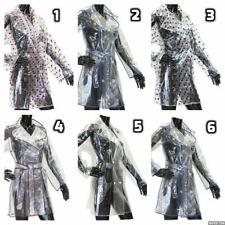 Damas Niñas Transparente Moda Abrigo Chaqueta de PVC Impermeable MAC Festival