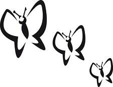 Schmetterlinge 3er Set, Kacheldekor, Fliesen oder Auto