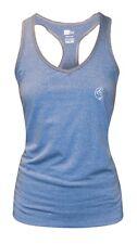 BG Racer Vest Top - Blue & Charcoal - Ladies T Shirt