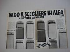 advertising Pubblicità 1985 ALFA ROMEO AR6 AR 6 - AR8 AR 8