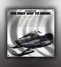 VINTAGE KAWASAKI 1981 LTD SNOWMOBILE BANNER