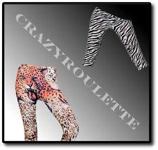 SeXy Leggings Damen Leopard Zebra Jeggings Capri Hose Röhrenjeans Hüft 36/38