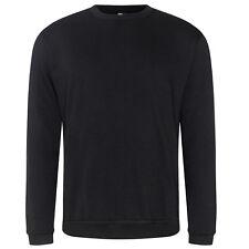 Big Tall Mens Plain Black Sweatshirt Sweater Jumper 2XL, 3XL, 4XL, 5XL, 6XL, 7XL