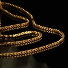 cadena Veneciana 1,3 MM SERIE 750 oro amarillo 18K Bañado en oro MUJER HOMBRE