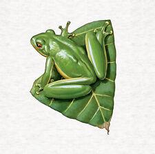 Frog On Leaf Fabric Cushion / Upholstery Craft Panel