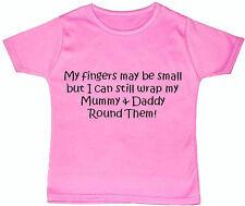 Mamma & Papà DITA... Baby / Bambini Maglietta / Top newborn-5y ACCE REGALO BOY GIRL