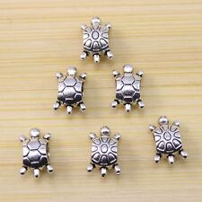 30/60/100 pcs Very auspicious Big empty All Tibet silver turtle interval beads