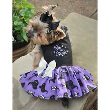 Halloween Dog Dress&Leash Scary Cute,Too Cute to Spook,Girls Bite Back, Fab Boo